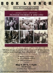 Pioneer Stories Book Launch